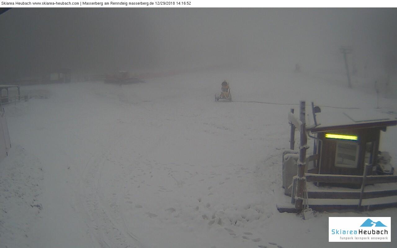 Webcam Skigebiet Masserberg - Skiarena Heubach Panorama - Thüringer Wald