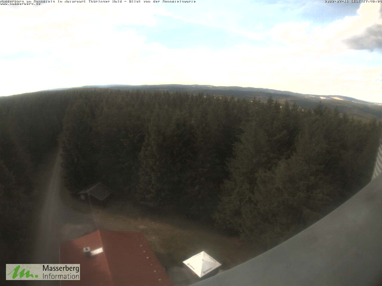Webcam auf der Rennsteigwarte Masserberg